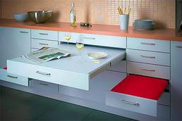 Столы-трансформеры: незаменимы для небольших кухонь